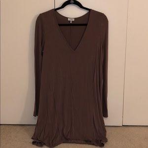 Tobi brown long sleeve dress